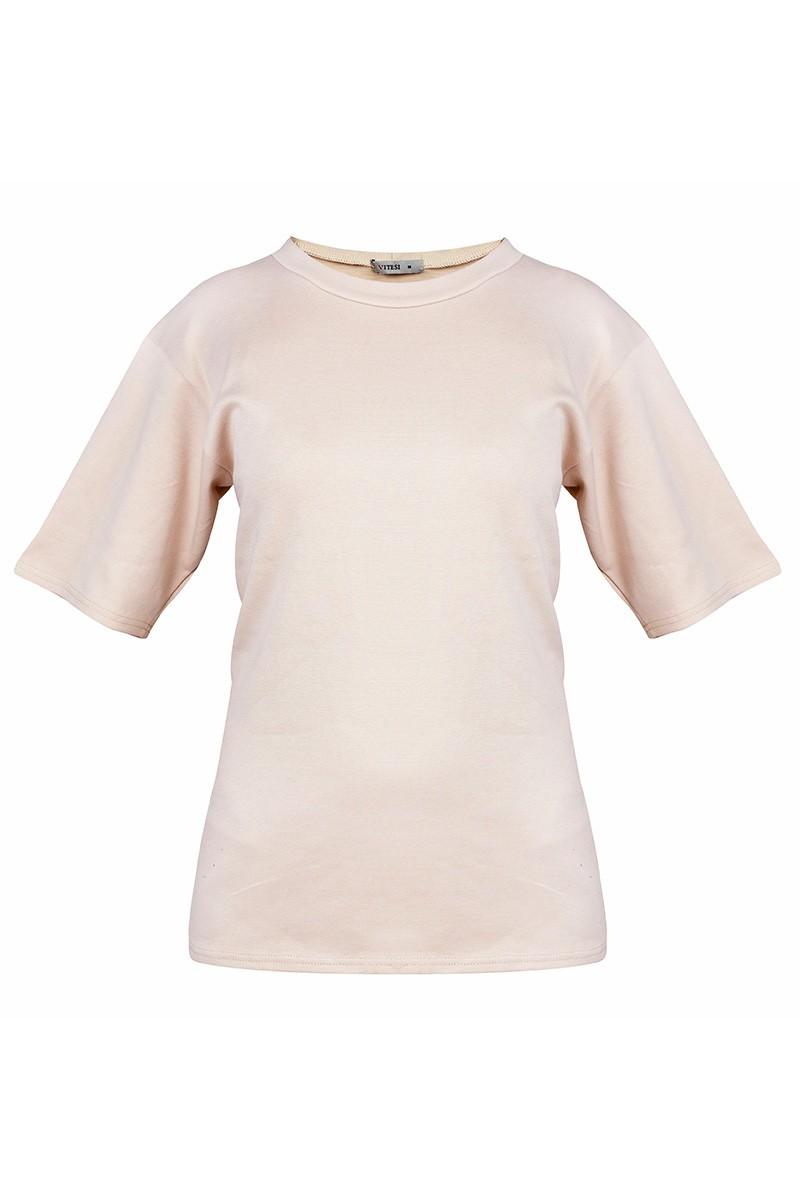 copy of OLIVIA Damska koszulka zakładana przez głowę. Tył pełny, szeroki dekolt