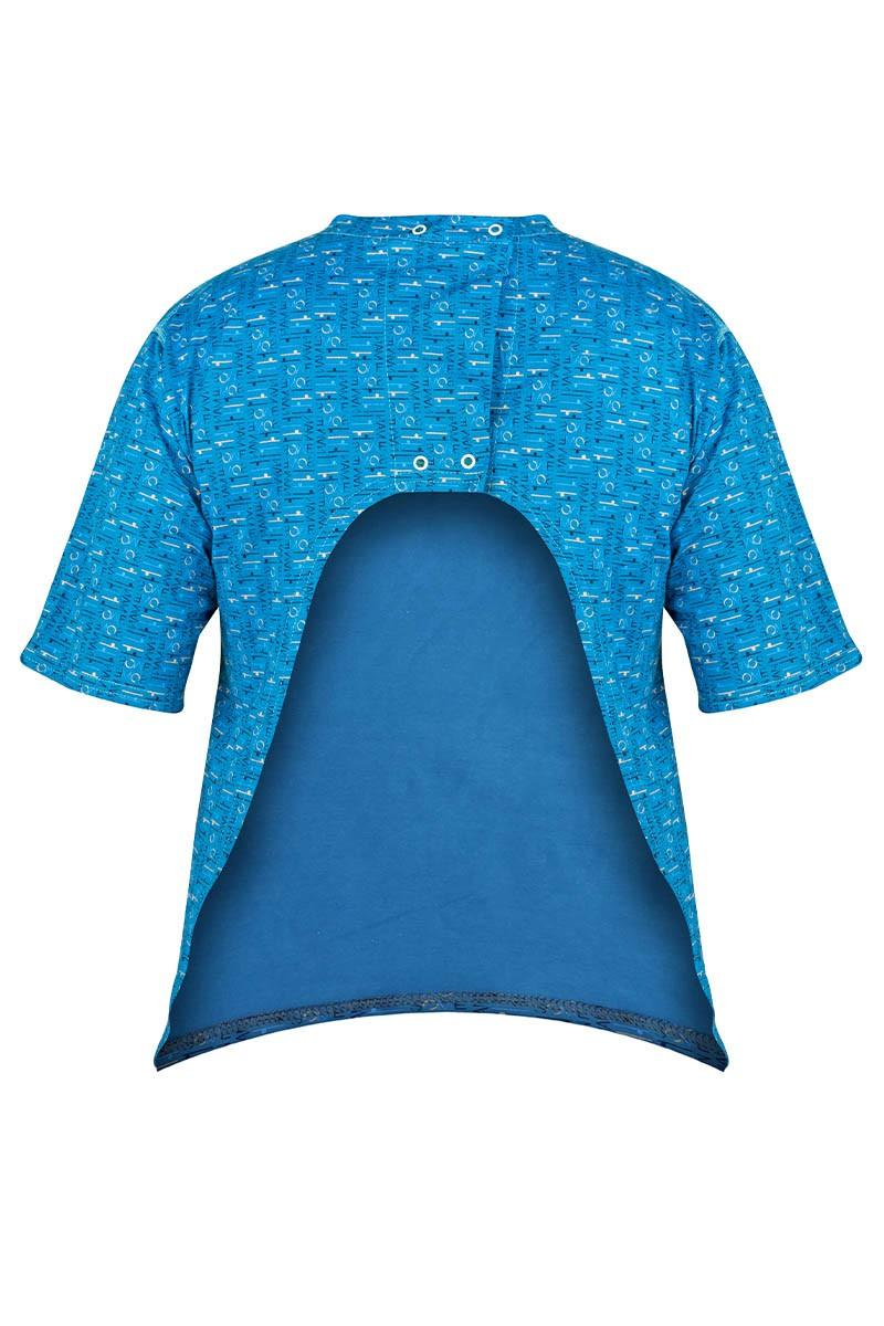 FRANK Męska koszulka z wyciętymi plecami. Zapinana na napy