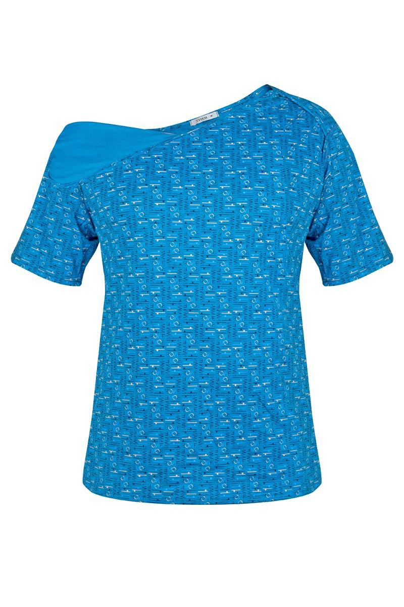 ERIK Męska koszulka z wyciętymi plecami. Zakładana przez głowę, szeroki dekolt.