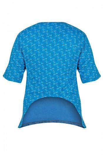 copy of FRANK Męska koszulka z wyciętymi plecami. Zapinana na napy