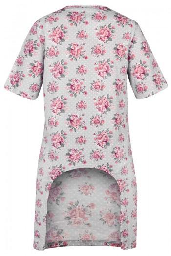 copy of BLANCA Damska koszula nocna z wyciętym tyłem. Zapinana na zamek.