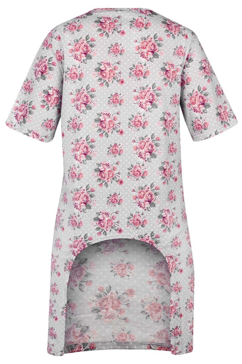 GABRIELLA Damska  koszula nocna z wyciętym tyłem. Zakładana przez głowę, szeroki dekolt